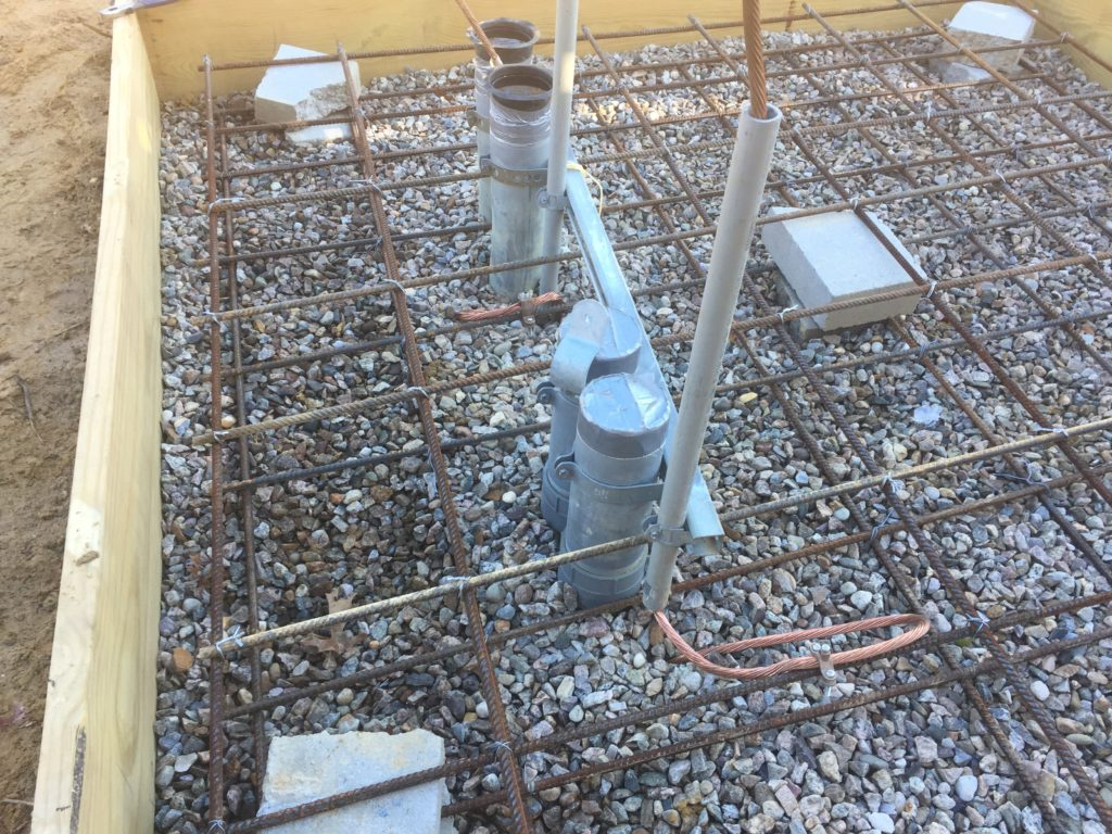 View of the pipe work for the new 500kVA transformer