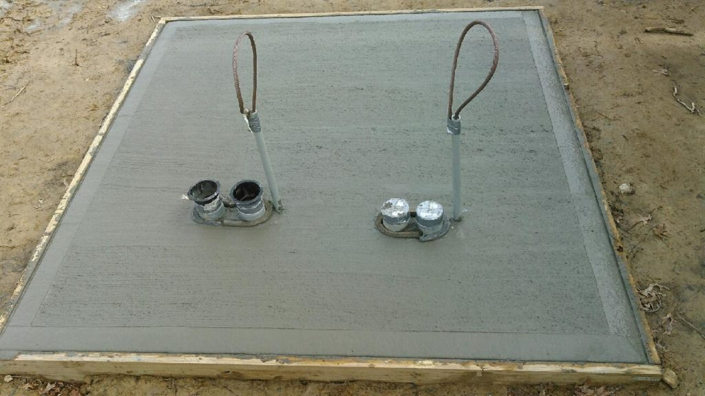 Finished transformer pad after concrete pour