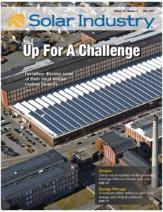 The 1.3MW system by Beaumont Solar was featured on the cover of Solar Industry Magazine for the unique installation of solar on a saw-tooth roof.