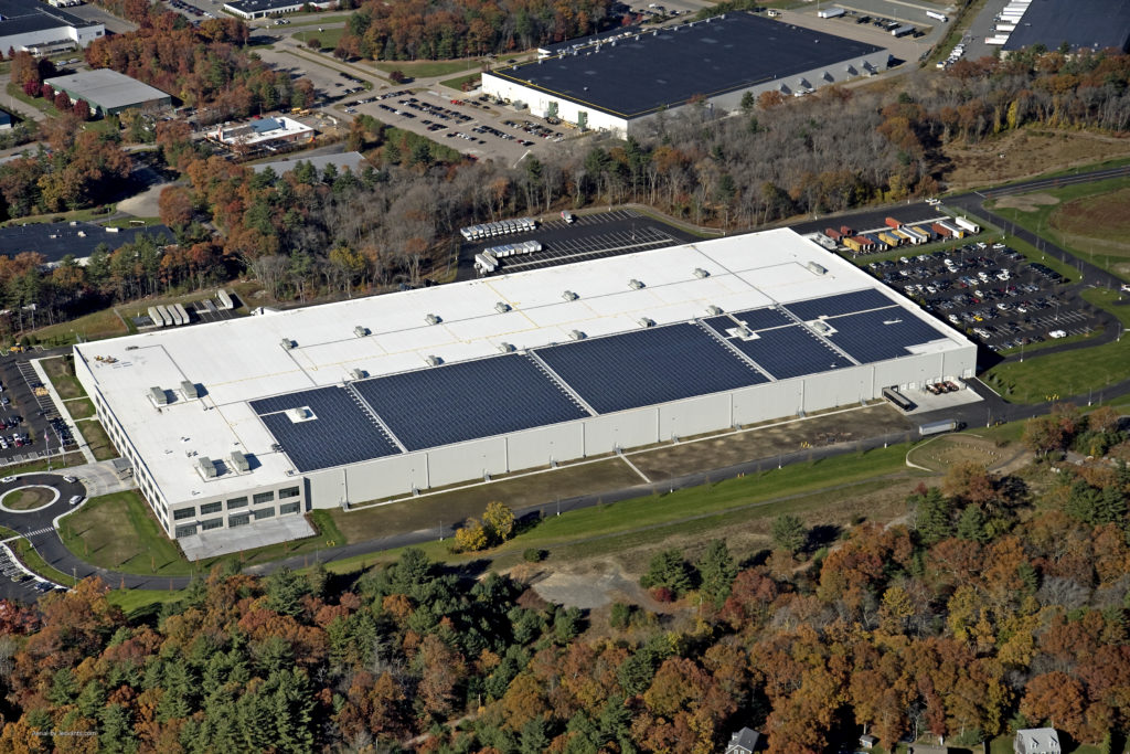 The new 680,305 square foot facility of Martignetti Companies is LEED Certified and will now produce close to 2.6 megawatt hours of its own clean energy annually.