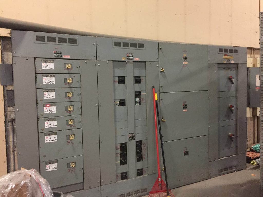A view of the building's electrical gear.