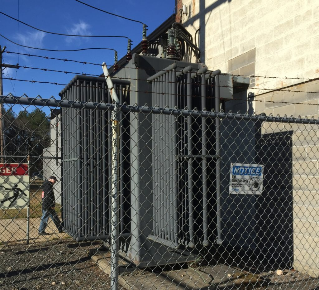 A view of the site's 1500kVA transformer.