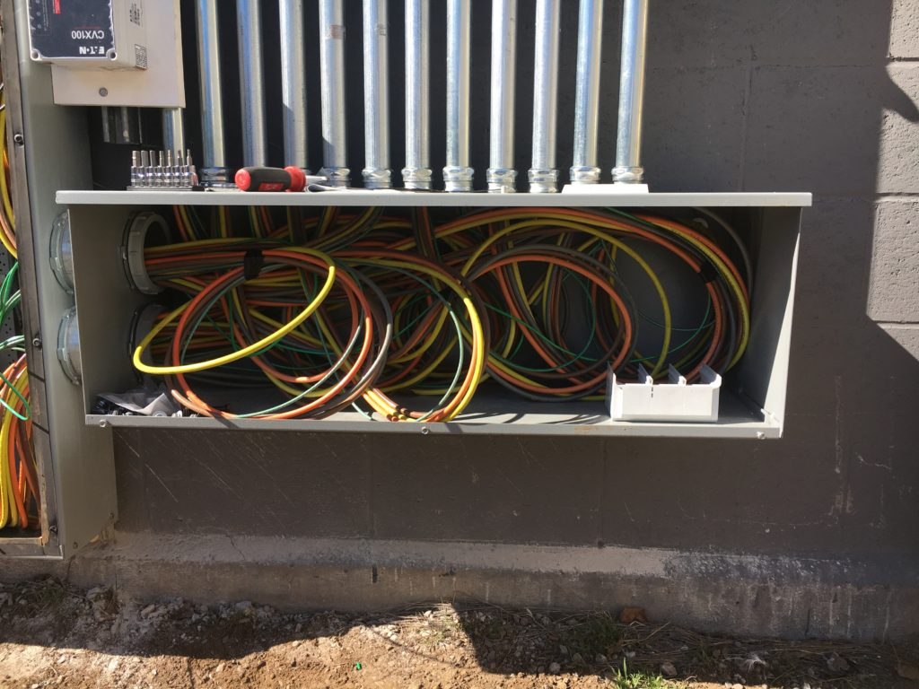 Wire management is taken seriously by Beaumont Solar electricians.